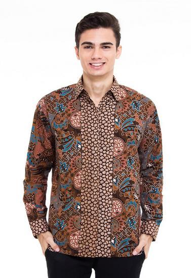 Contoh Model Baju Batik Pria Kombinasi Terbaru