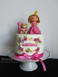 tarta de cumpleaños decorado para la princesa braganza