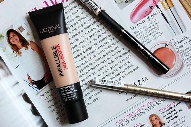 loreal paris, loreal, infallible foundation, superliner, eyeliner, lipliner, invisible lipliner, loreal review