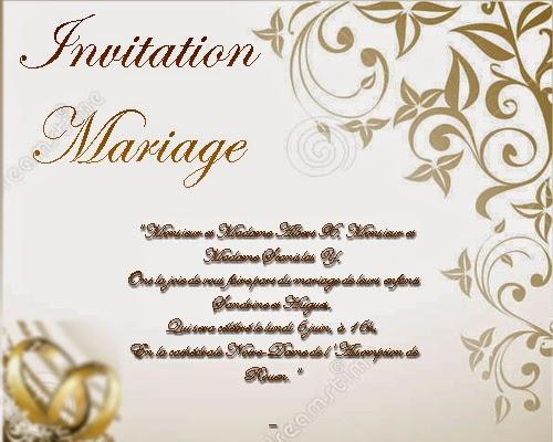 carte invitation mariage original invitation mariage. Black Bedroom Furniture Sets. Home Design Ideas