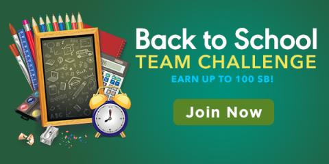 Earn Free Gift Cards during the Back to School Team Challenge