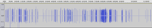 [Image: Screenshot of Audacity showing an audio file over eleven hours long.]