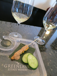 GreenLane Riesling with Balinese Chicken Satay