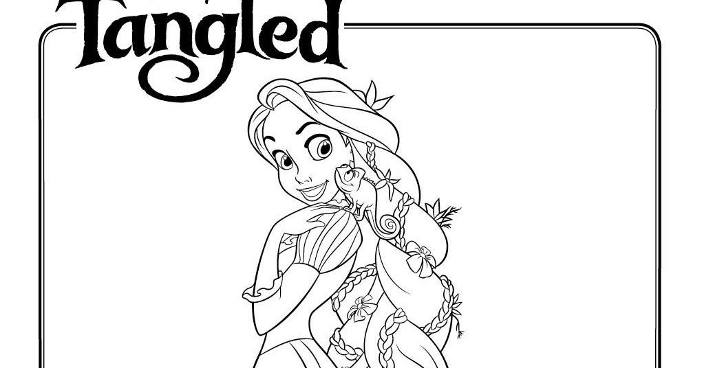 Dibujos Para Colorear Rapunzel: Rapunzel Para Colorear Y Pintar