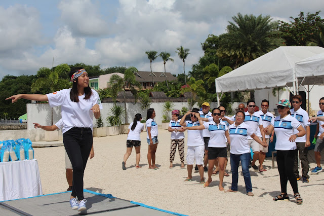 Quennie leading a Zumba dance session for CAAP
