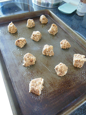 Toffee and Walnut Oatmeal Cookies. Another freezer storage cookie dough recipe!
