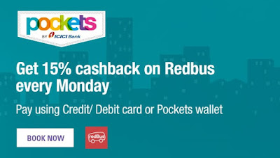 RedBus Offer - 15% cashback on bus tickets!