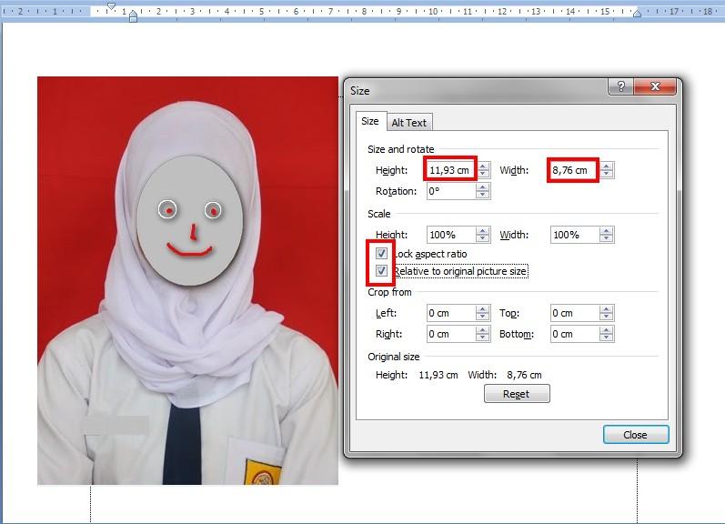 Tangi Wengi Foto Ukuran 2x3 3x4 4x6 Di Ms Word