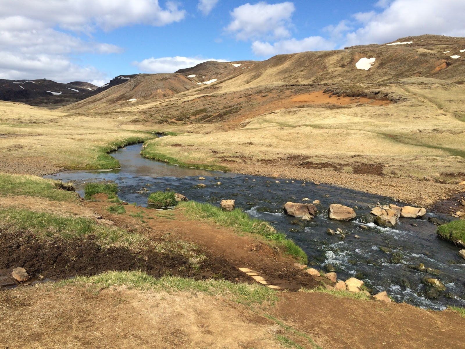 Hiking to the hot springs in Hveragerdi, Iceland