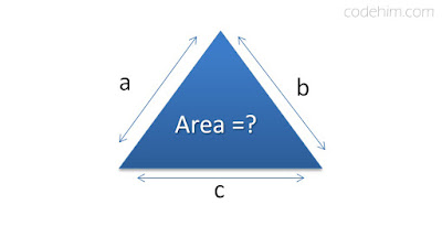 finding area of triangle in cpp