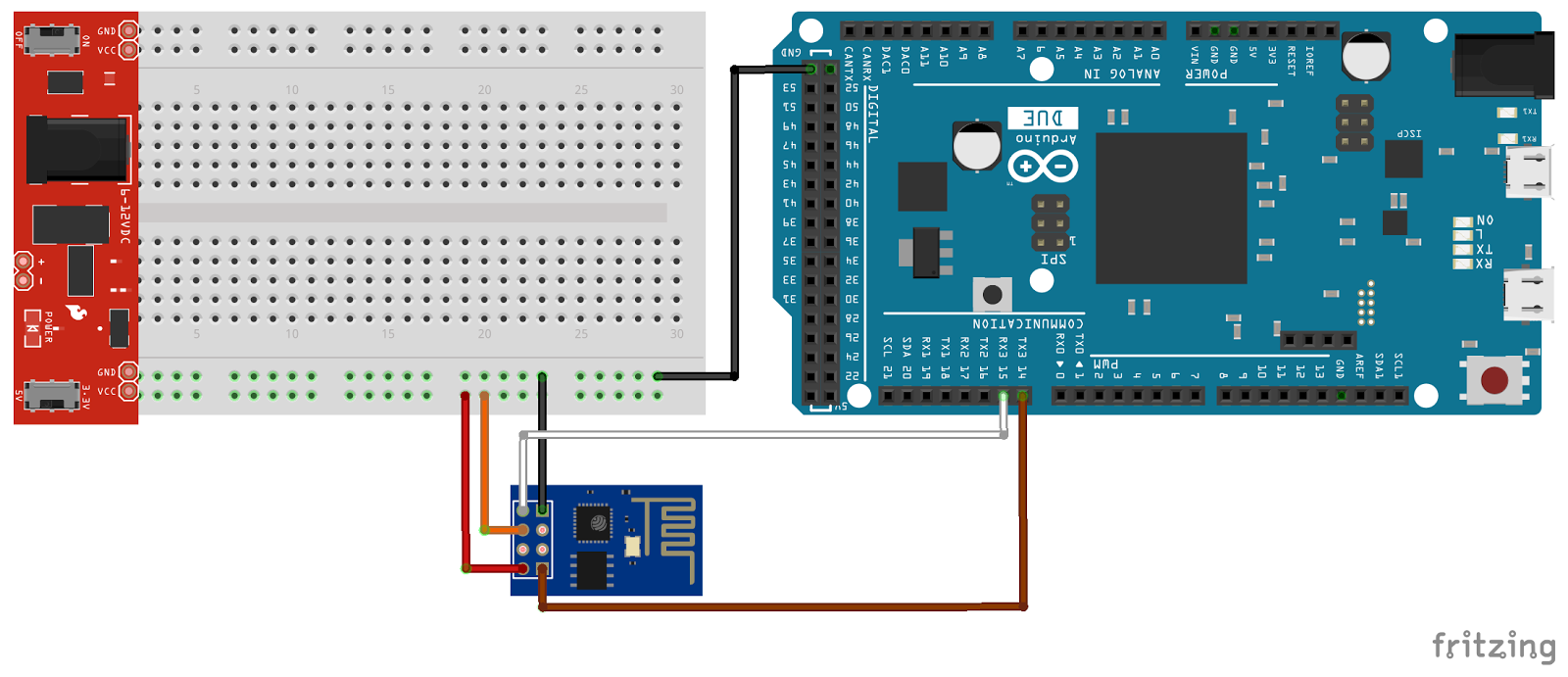 Arduino-er: Arduino Due + ESP8266 as client, connect to website