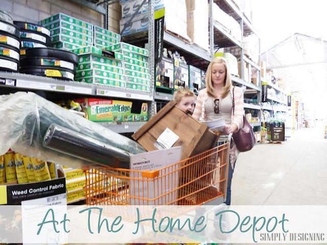 Shopping, DIY Flower Tower, Home Depot #sponsored #digin #heartoutdoors #spring