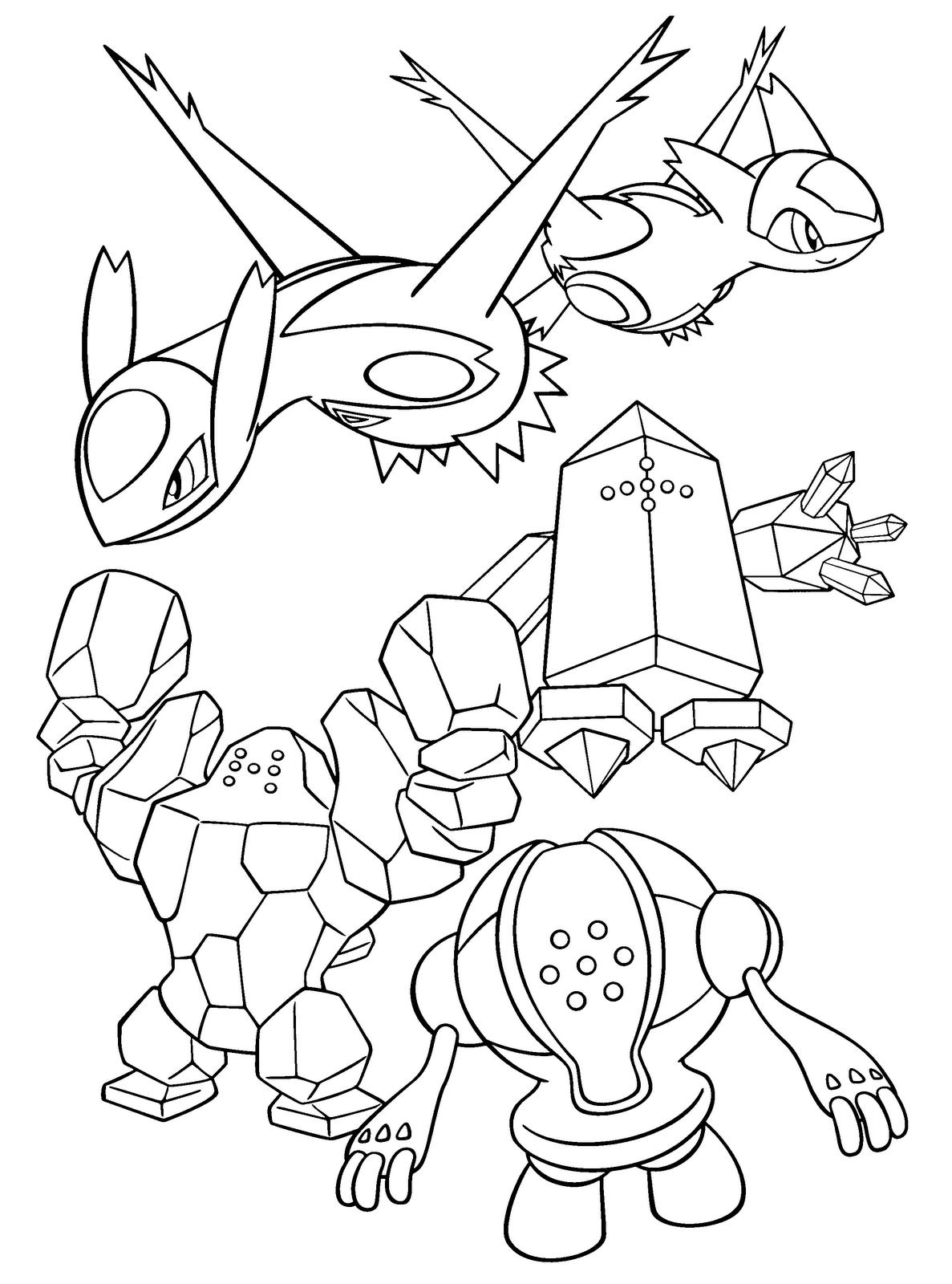 desenhos para colorir 6 geracao
