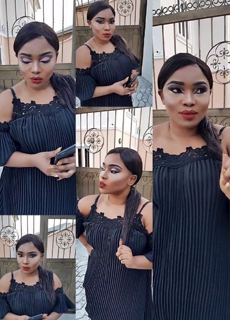 Halimar Abubakar stuns in sheer black mini gown, prays for her followers