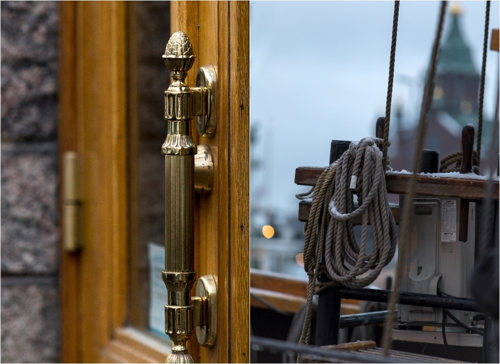 Helsinki, Uusivuosi, streetphotography, valokuvaus, valokuvaaja Frida Steiner, arkkitehtuuri, ardhitecture, Suomi, Finland, visitfinland, visithelsinki, ovenkahva, vene, purjevene