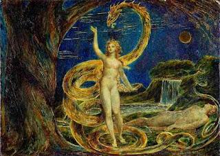 Eva und die Schlange (William Blake,1799)