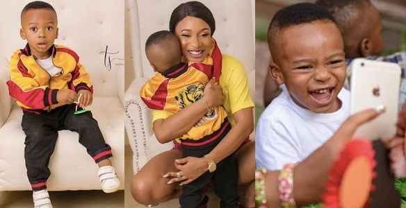 I will give you the whole world and more – Tonto Dikeh tells son