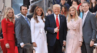 President Donald Trump and family