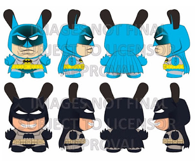 DC Comics Dunny Collection by Kidrobot - Batman 5 Inch Dunny Vinyl Figures