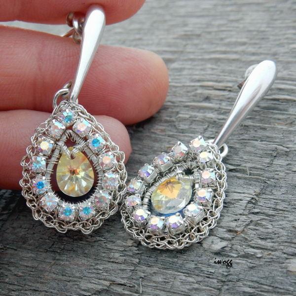 Oryginalna biżuteria ślubna z kryształami Swarovskiego
