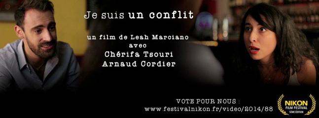 cover du court métrage JE SUIS UN CONFLIT de Léah Marciano.