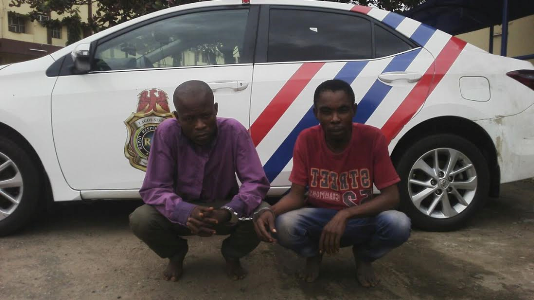 RRS nabs two robbers along at Cele Bus-stop, along Oshodi-Apapa Expressway (see photos)