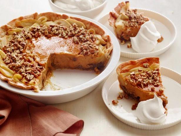 Apple-Pumpkin-Pecan Pie