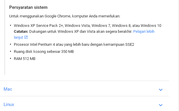 cara update google chrome di windows xp
