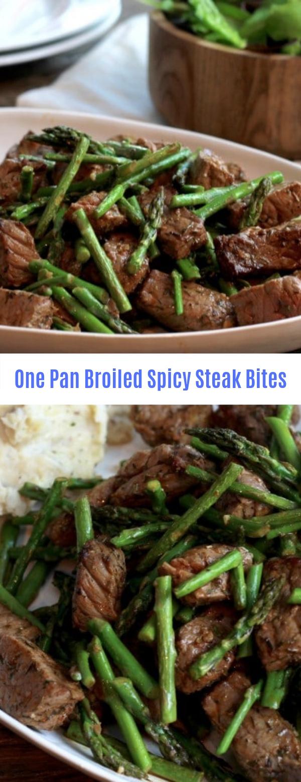 One Pan Broiled Spicy Steak Bites