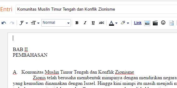 Komunitas Muslin Timur Tengah dan Konflik Zionisme