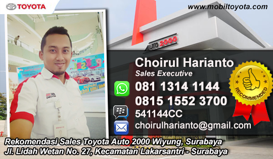 Rekomendasi sales Toyota Wiyung Surabaya