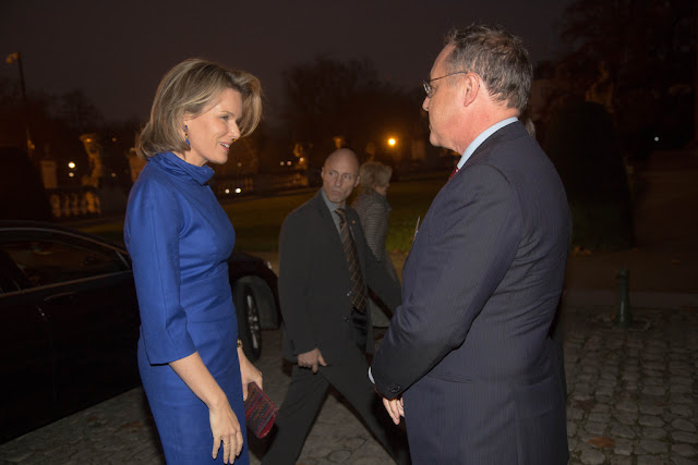 Queen Mathilde of Belgium assists the Grants 2014 de la Fondation Contre le Cancer