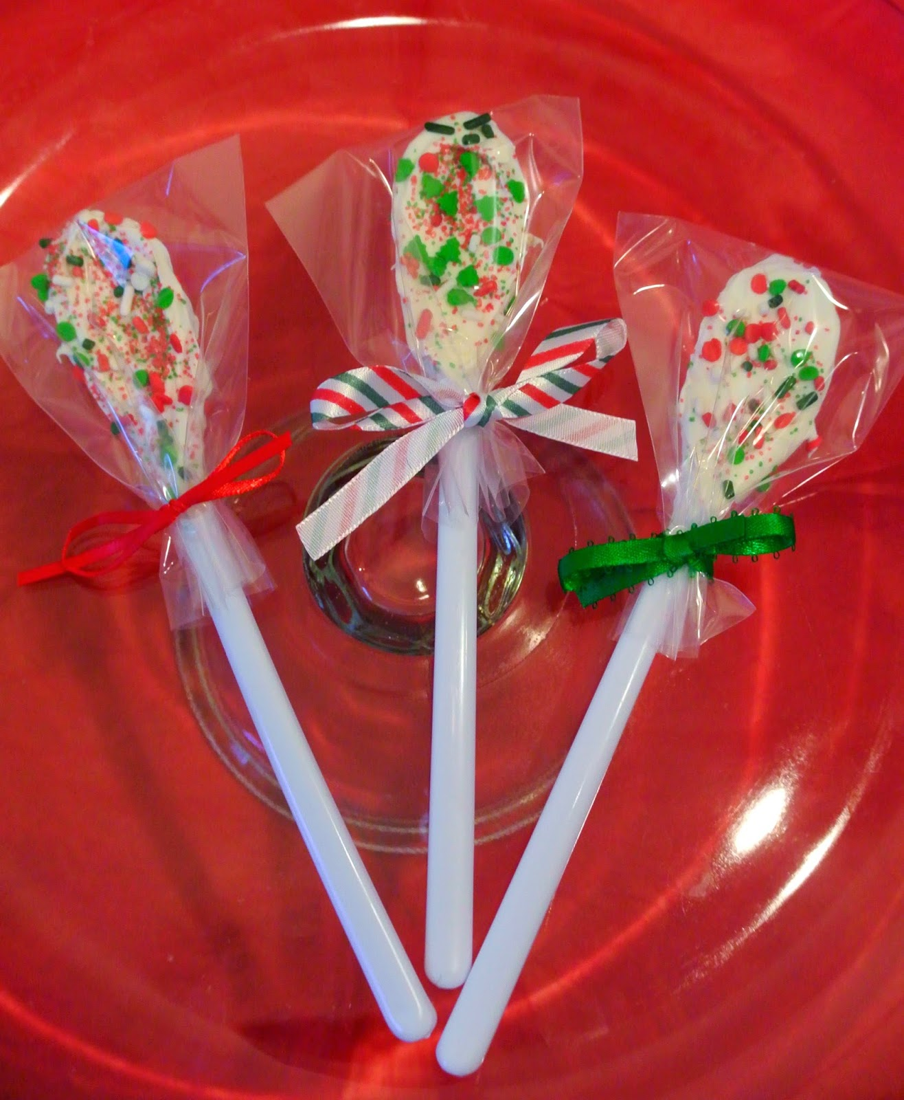 Hot cocoa stirrers, chocolate spoons