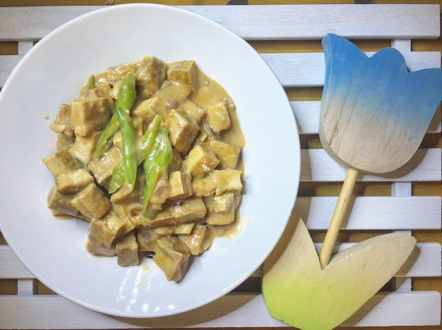 Tofu in White Cream Sauce