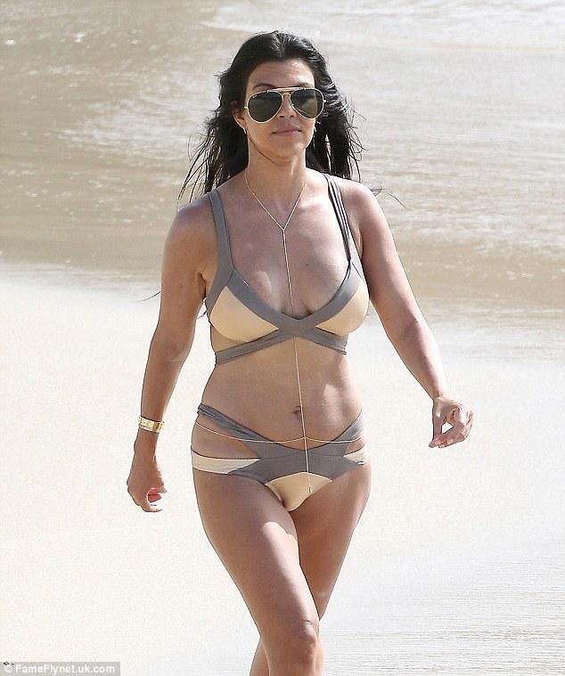 Kourtney Kardashian Belly Button Ring