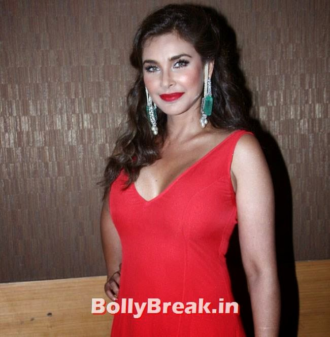 , Lisa Ray Latest hot Pics in Red Dress Without Sleeves at IIJW