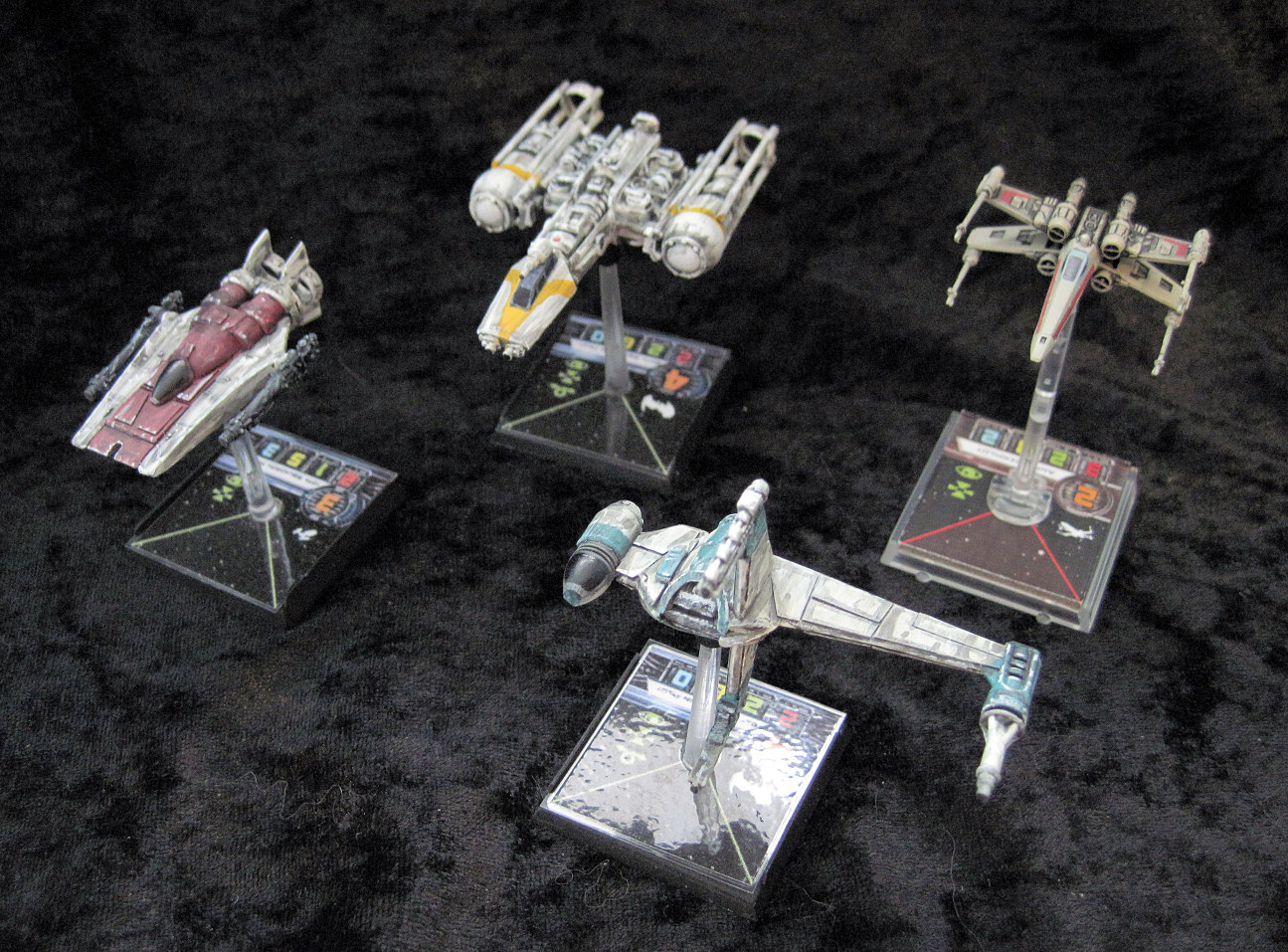 invivos: X-Wing Miniatures game: Rebel Mk2 B-Wing (scratchbuild)