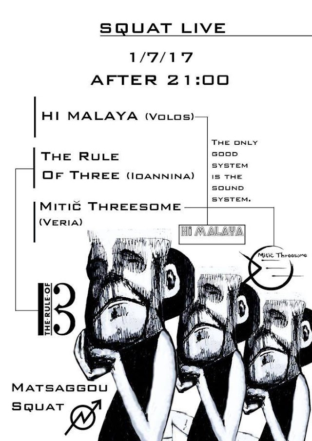 [News] Hi Malaya, The Rule of Three, Mitič Threesome LIVE 1June'17
