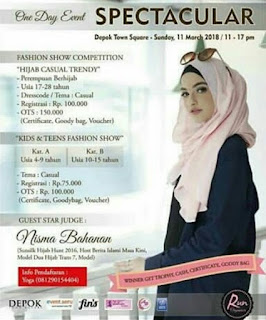 fashion show audisi hijab casual trendy dan kids fashion show