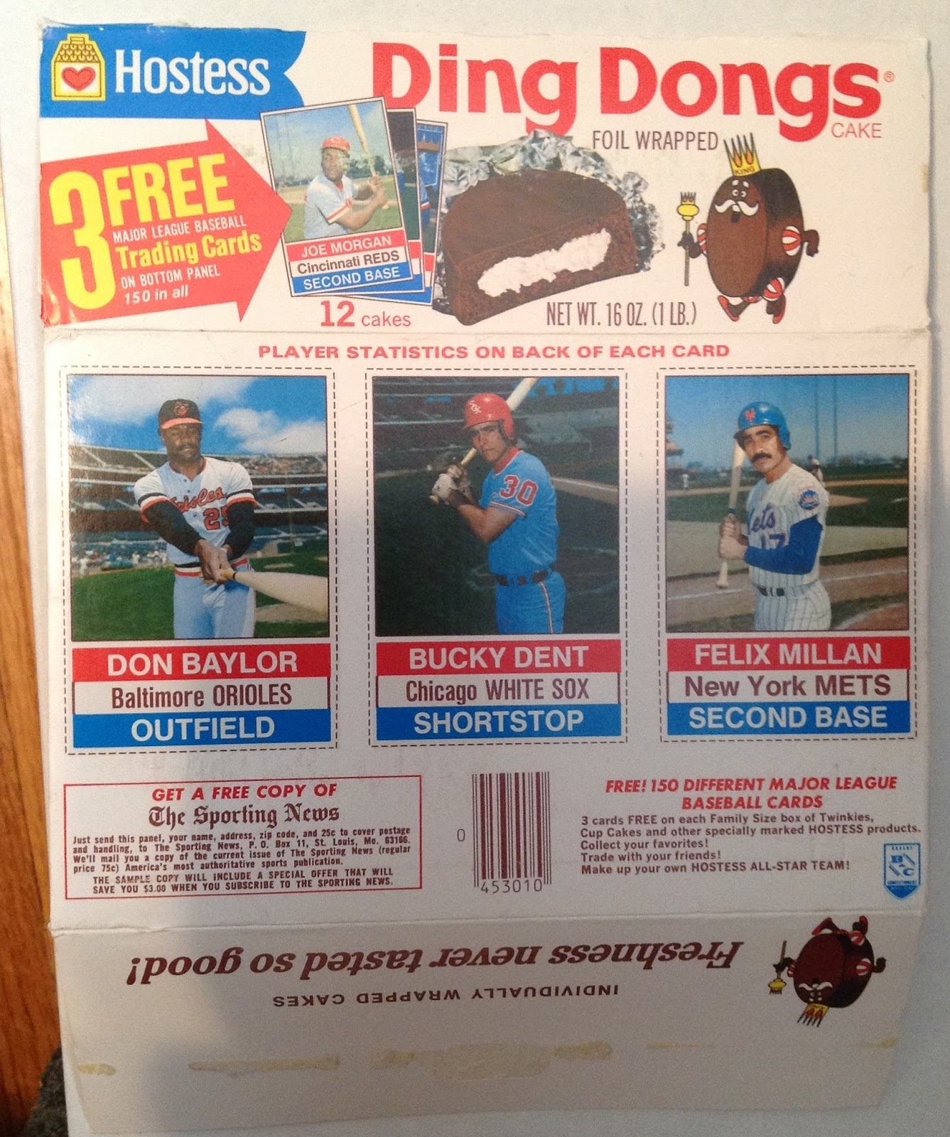 Run Fore Kelloggs Baseball Cards Cleaning Up Today