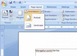 Cara Mengatur Posisi Kertas Di Microsoft Word 2007