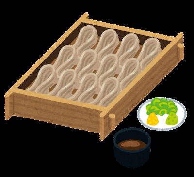 へぎ蕎麦のイラスト