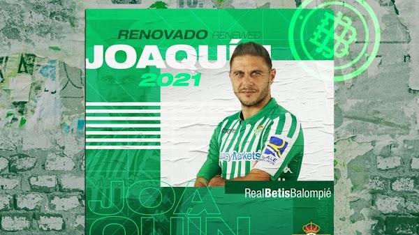 Oficial: El Betis renueva a Joaquín hasta 2021