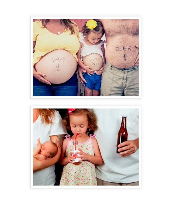 Fotos Criativas e Divertidas para Grávidas