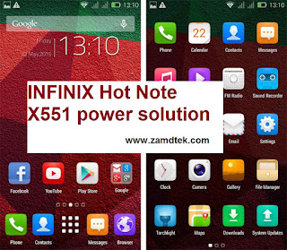 INFINIX Hot Note X551 power solution