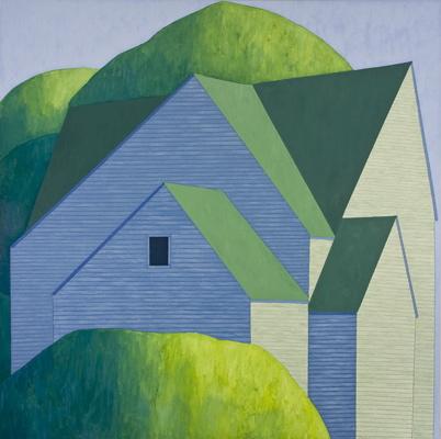 House In Trees, 2008 por Scott Redden - Oil on linen