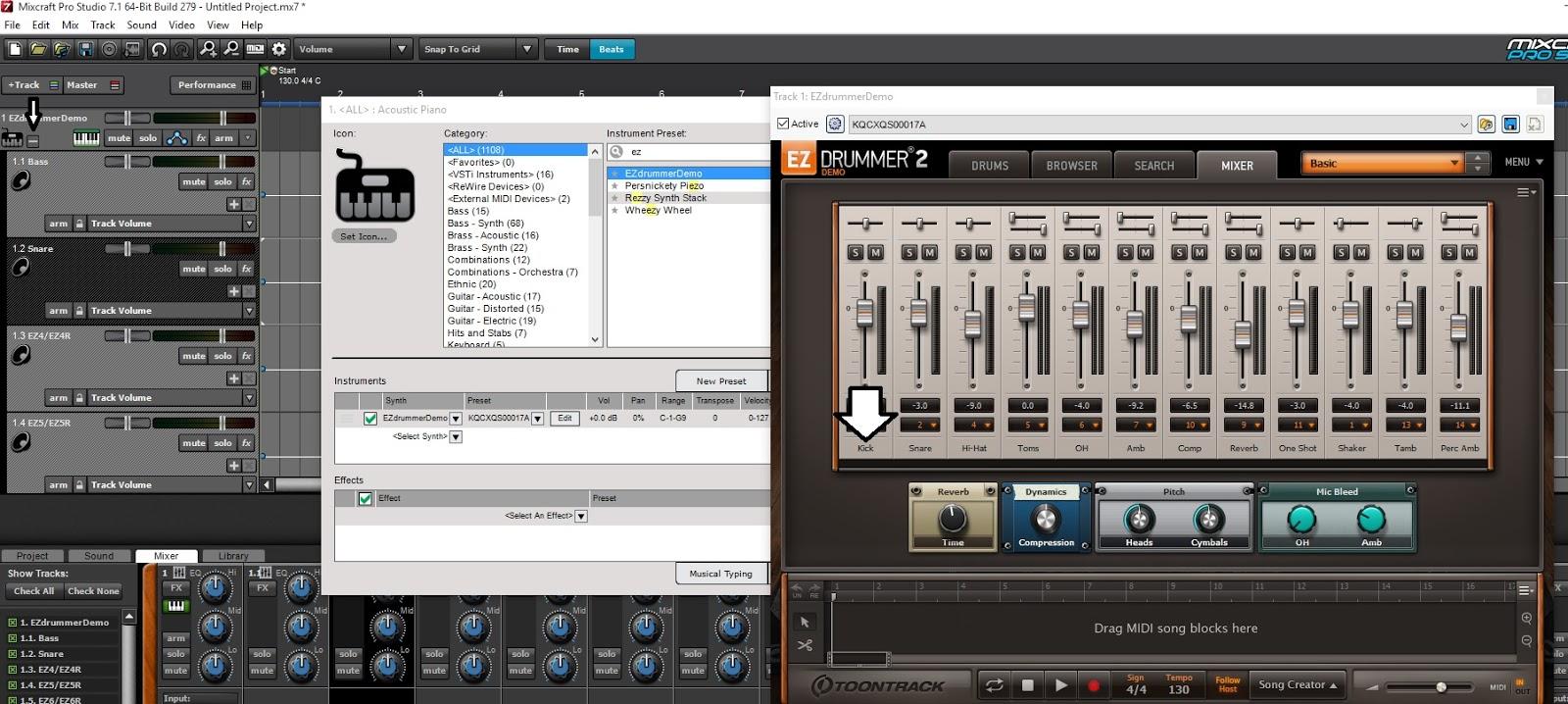 Me 'n' Music: How to 'ReWire' Ezdrummer in Mixcraft 7 Pro Studio
