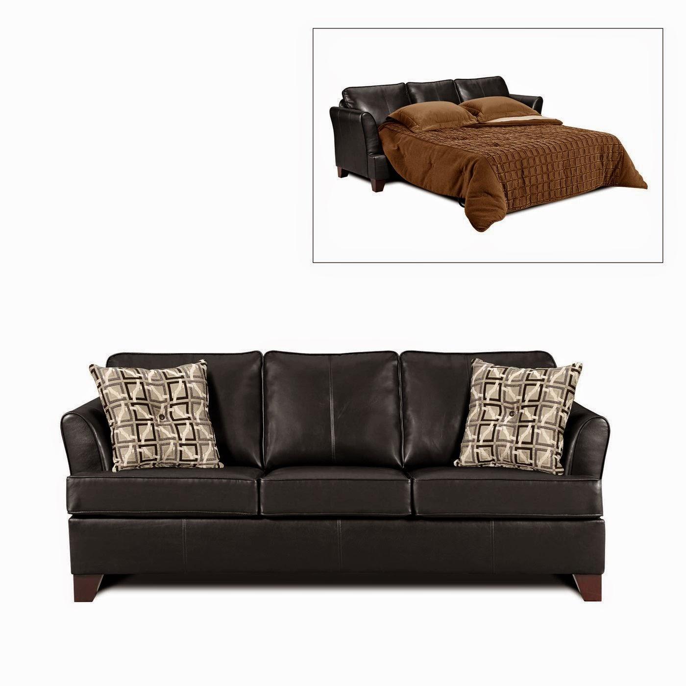black leather sofa: black leather sleeper sofa