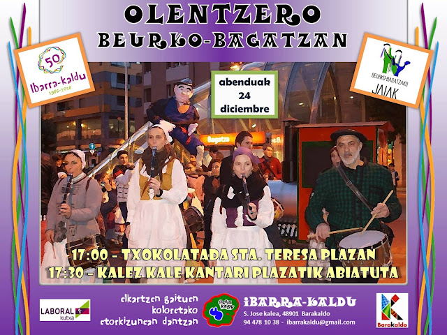 Programa de Olentzero de Beurko-Bagatza