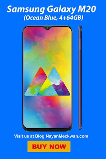 Samsung Galaxy M20 (Charcoal Black, 4+64GB) from Amazon